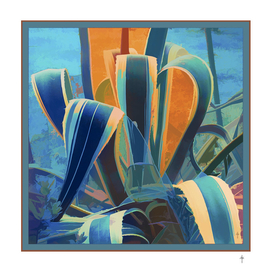 Agave Series  - Blue and Yellow