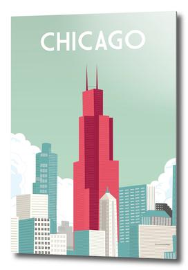 Chicago illinois | Vintage Travel Poster |Chicago poster
