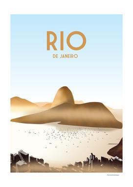 Rio de janeiro Brazil| Vintage Travel Poster