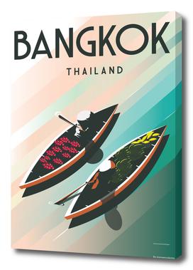 Bangkok Thailand| Vintage Travel Poster