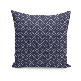 white pattern on navy blue