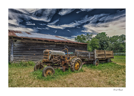 Old Tractor at Barn