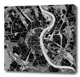 Cologne map black & white