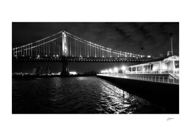Benjamin Franklin Bridge (black and white)