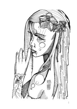 The Secret ink draw portrait