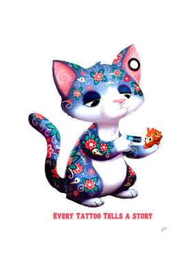 Tattooing cat