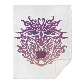 Purple Tribal Tattoo Mask