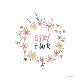 Girl power text print