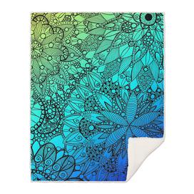 Blue and Turquoise Mandala Pattern
