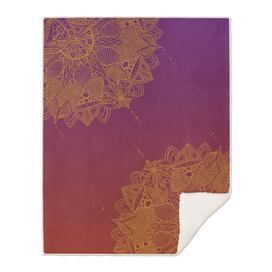 Red and Purple Mandala Pattern