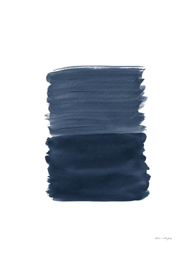 Blue Abstract Minimalism #1 #minimal #ink #decor #art