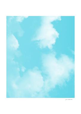 Aqua blue sky