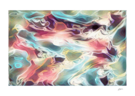 Realm of the Gods - multicolor rainbow abstract swirls