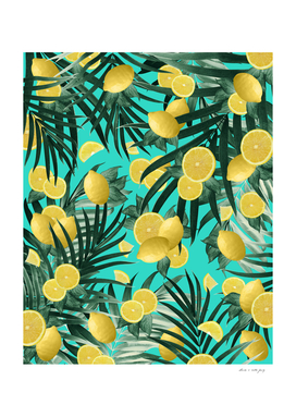 Summer Lemon Twist Jungle #1 #tropical #decor #art