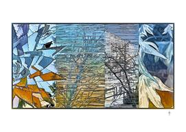 Abstract Seasons - Blue Orange