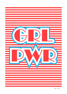 GRL PWR, Girl Power, red version