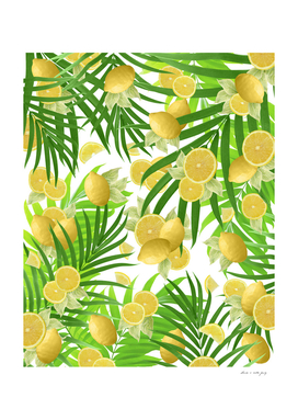 Summer Lemon Twist Jungle #2 #tropical #decor #art