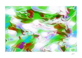 Green Glass Window - multicolor abstract swirls