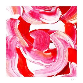 Vibrant and bold Pink Brush Stroke pattern