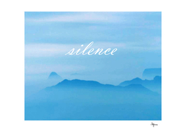 The positive art silence weekend artwork