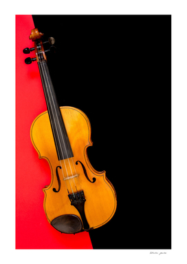 Violin on a multi-colored background