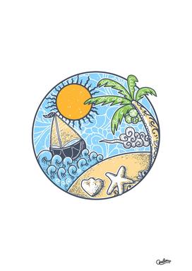 Summer ornament