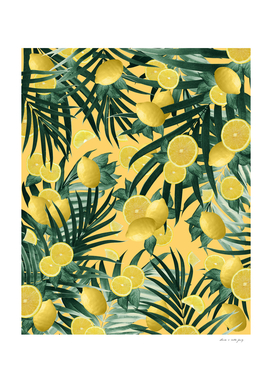 Summer Lemon Twist Jungle #3 #tropical #decor #art