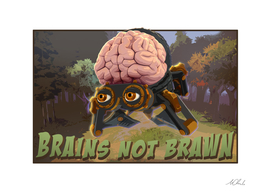 Brains not brawn Art Print, Cancas, Aluminum, Acrylic Glass