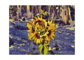 Five  sunflower