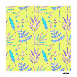 Summer Botanical Hand Drawn Pattern