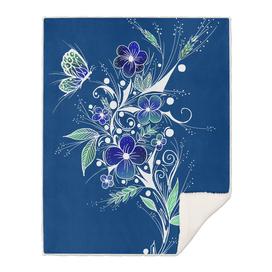 Blue Flower Tattoo