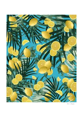 Summer Lemon Twist Jungle #4 #tropical #decor #art