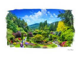 Butchart Gardens Painterly