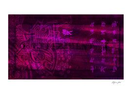 Abstract wallpaper with fantasy symbols