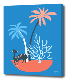 Island and deer