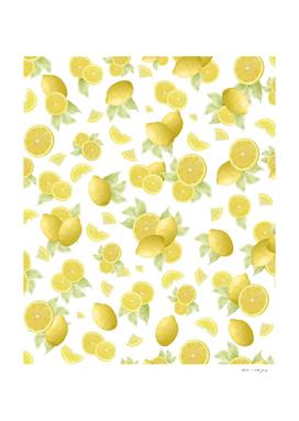 Summer Lemon Twist #1 #tropical #fruit #decor #art
