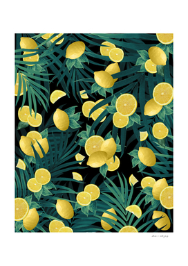 Summer Lemon Twist Jungle Night #1 #tropical #decor #art