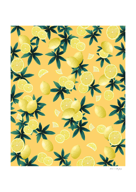 Lemon Twist Vibes #3 #tropical #fruit #decor #art