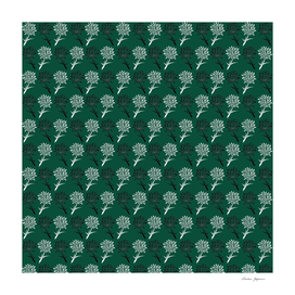 Dandelion Flower Pattern Green