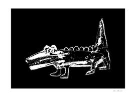Crocodile black-white design