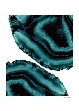 Dark Turquoise Agate #1 #gem #decor #art