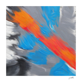Warm stream, abstract painting