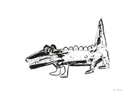 Crocodile white-black design