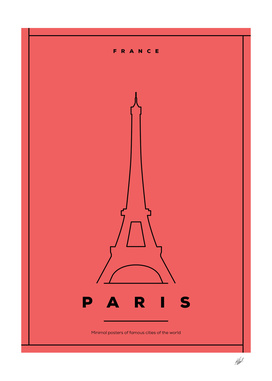 Minimal Paris City Posters
