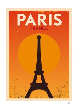 Retro Paris Poster