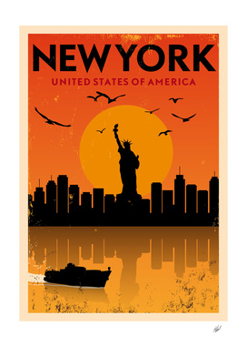 Retro New York Poster