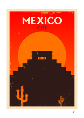 Vintage Mexico Poster Design