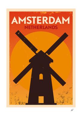 Vintage Amstedam Poster Design