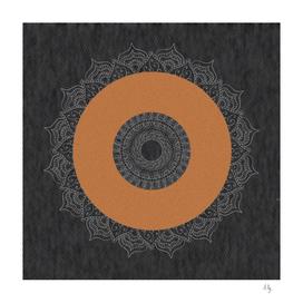Dignity eastern style orange circle