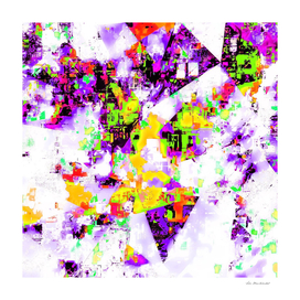 geometric abstract background in purple green yellow
